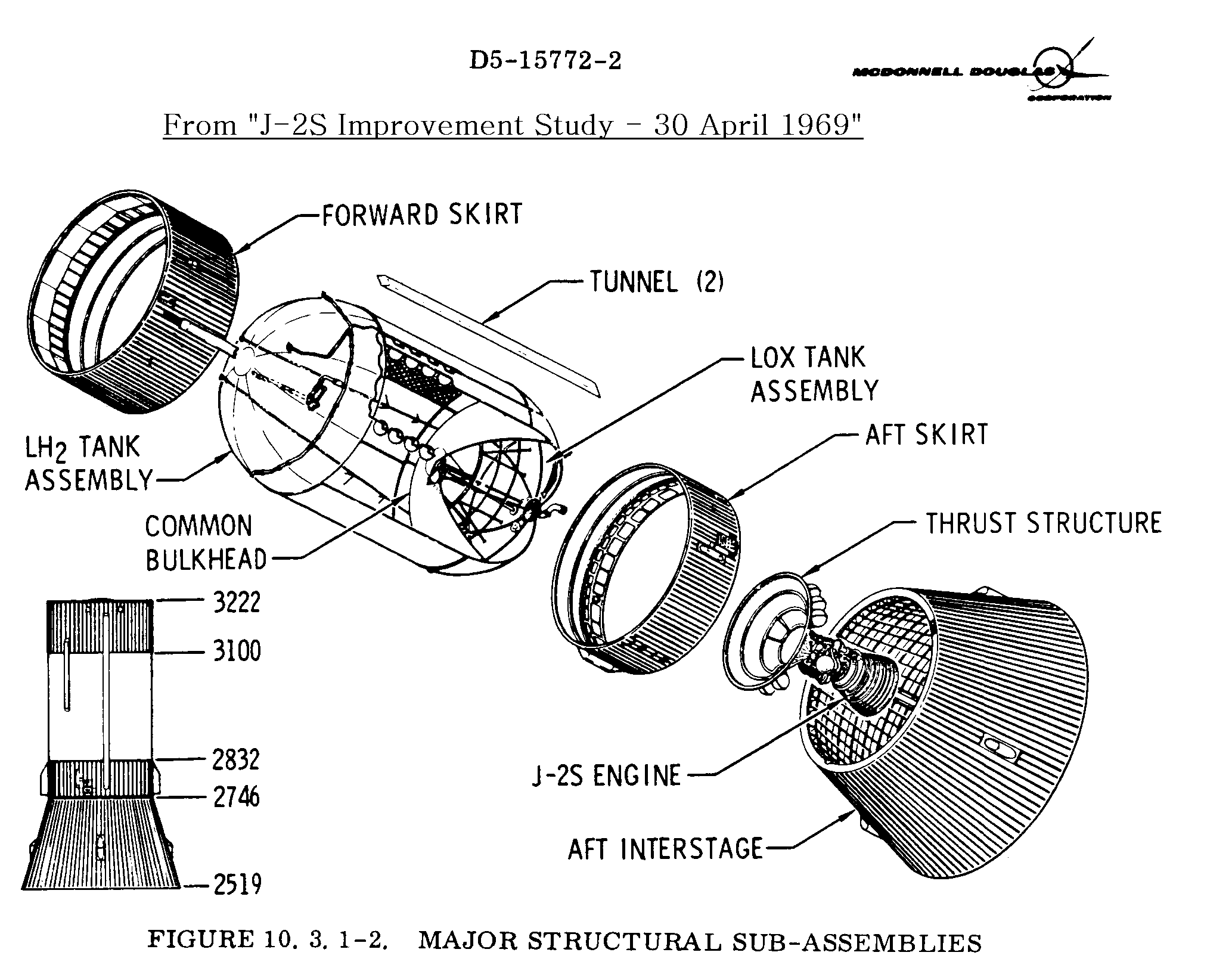 Saturn Launch Vehicle Information Automotive Engine Diagrams S Ivb Stage Inboard Diagram 1963 1964 Structure