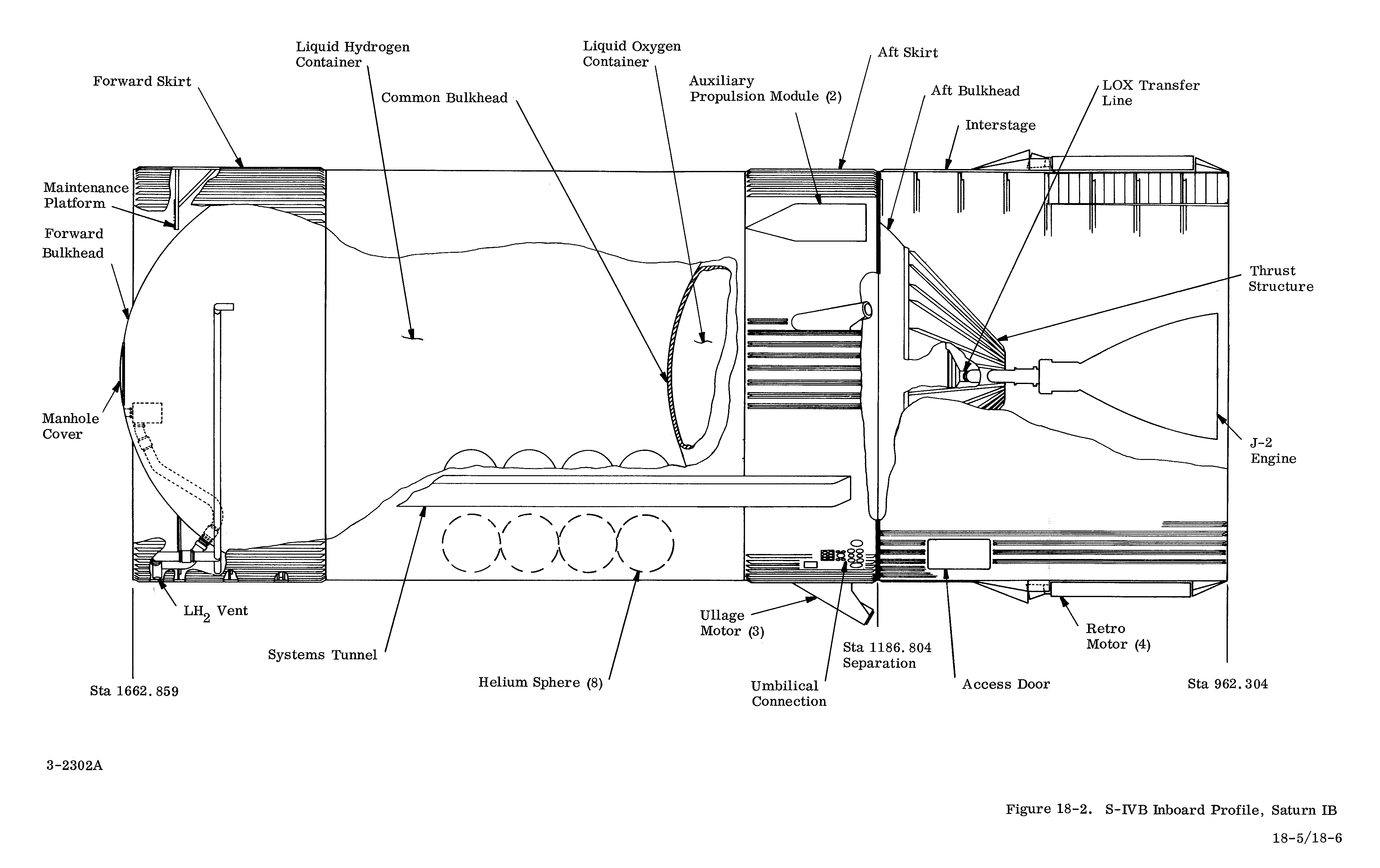Saturn Launch Vehicle Information Engine Diagram S Ivb Stage Structure 1964 V